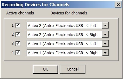 Liberty Settings for Antex Mixer