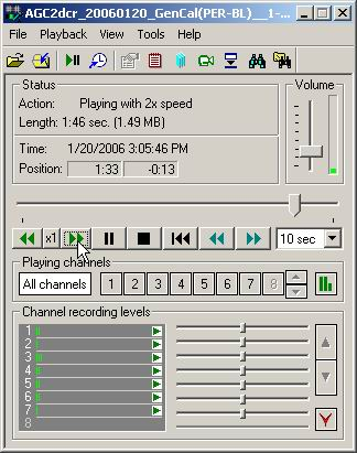 Increased speed is noted in the playback window
