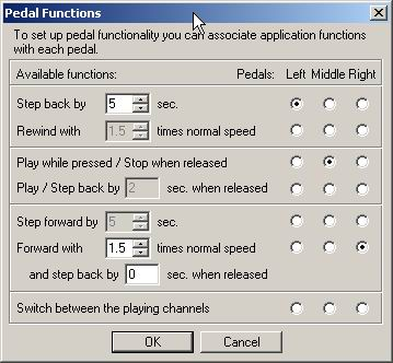 Set Pedal Functions
