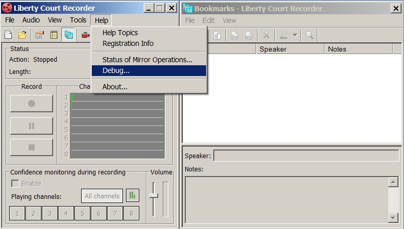 Go to the Debug Window in the program